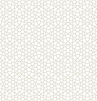 Ornamento geometrico arabo senza soluzione di continuità in colore marrone.