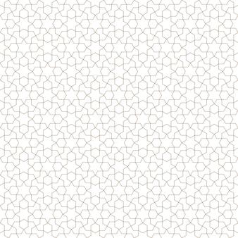 Ornamento geometrico arabo senza cuciture nel colore marrone.