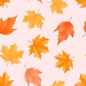 Disegno del modello di foglia d'autunno senza soluzione di continuità