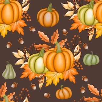 Foglie d'autunno senza soluzione di continuità