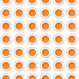 Sfondo senza soluzione di continuità di tazze con succo d'arancia in uno stile piatto
