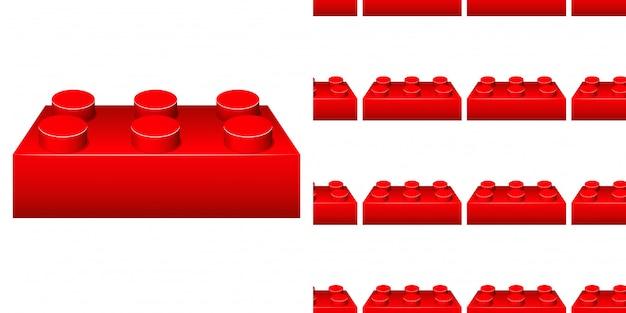 Progettazione senza cuciture del fondo con il blocco rosso