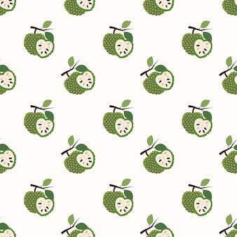 Immagine di sfondo senza soluzione di continuità cherimoya colorato frutta tropicale