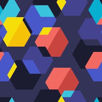 Grafica geometrica del motivo di sfondo senza soluzione di continuità. illustrare.