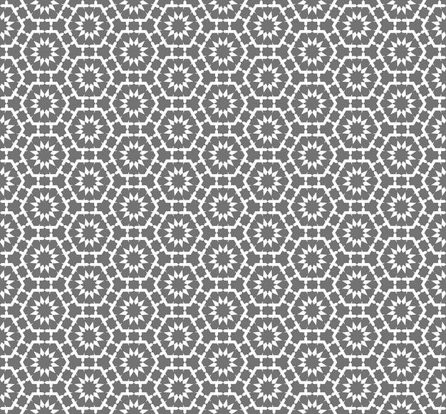Sfondo senza soluzione di continuità, modello di pizzo fiore di geometria poligono vintage.