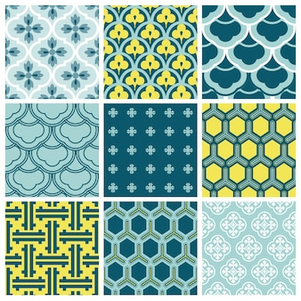 Sfondi senza soluzione di continuità collezione vintage tile