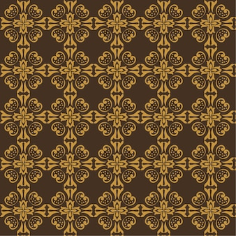 Sfondo astratto modello batik senza soluzione di continuità