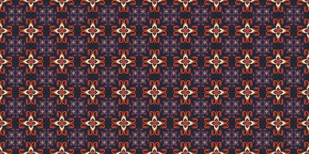 Sfondo modello batik senza soluzione di continuità