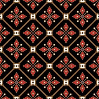 Vettore di modello batik senza soluzione di continuità