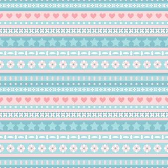 Modello tribale blu e rosa senza soluzione di continuità