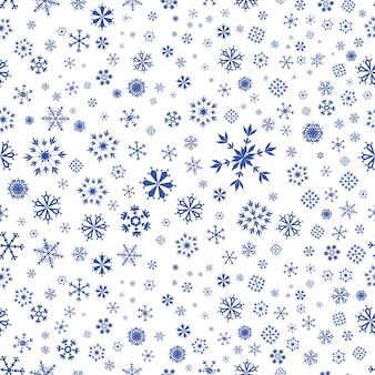 Sfondo di fiocchi di neve blu senza soluzione di continuità
