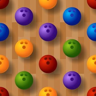 Illustrazione del modello bowling senza soluzione di continuità