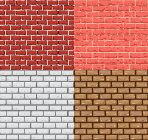 Muro di mattoni senza soluzione di continuità. trama di pietra di colore realistico. motivi decorativi per interni in stile loft. priorità bassa di disegno del modello.