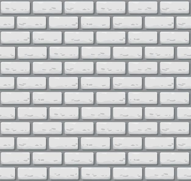 Muro di mattoni senza soluzione di continuità. trama di pietra di colore realistico.
