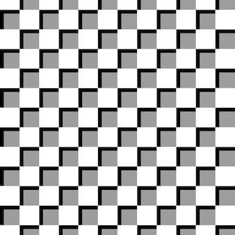 Carta da parati senza cuciture del modello di vettore della scacchiera con effetto ombra.