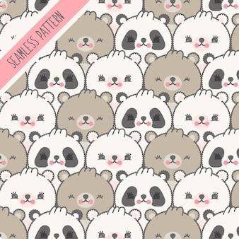 Seamless pattern infantile con gli orsi