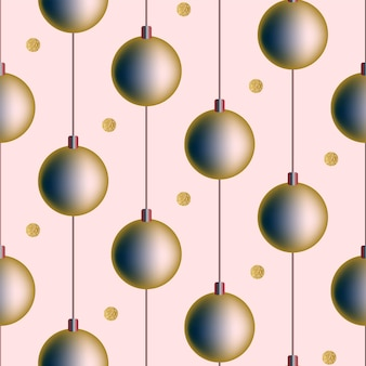 Senza soluzione di continuità natale modello festivo sfondo bianco cartolina invito gradiente capodanno palle