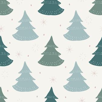 Seamless pattern albero di natale