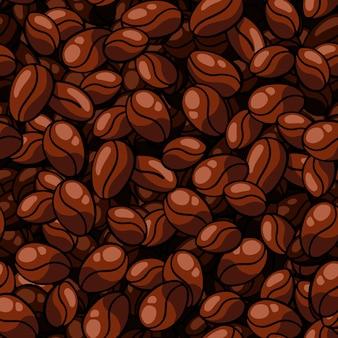 Modello senza cuciture del chicco di caffè su fondo solido