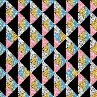 Senza soluzione di continuità sfondo colorato glitter triangolo