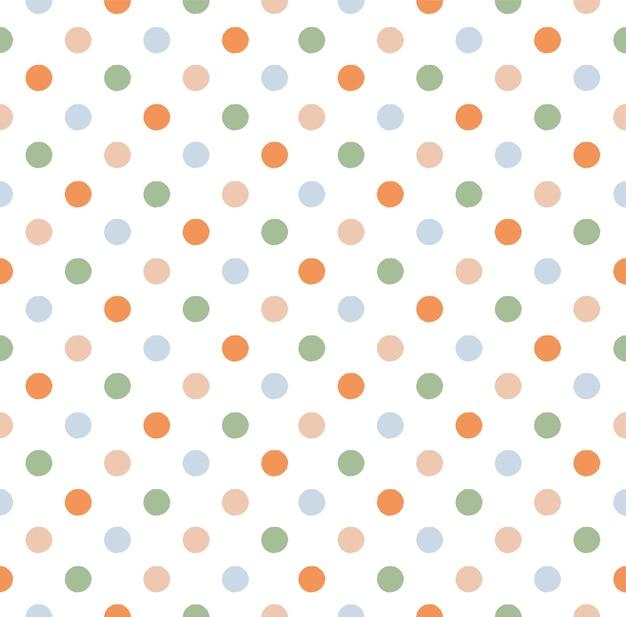 Modello di puntini doodle carino senza soluzione di continuità