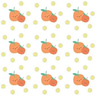 Modello arancione di frutta arancione senza giunte