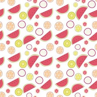 Motivo di frutta senza saldatura sveglio dell'anguria