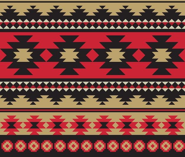 Design pattern etnico azteco senza soluzione di continuità.