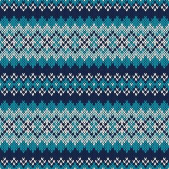 Modello lavorato a maglia fair isle senza soluzione di continuità