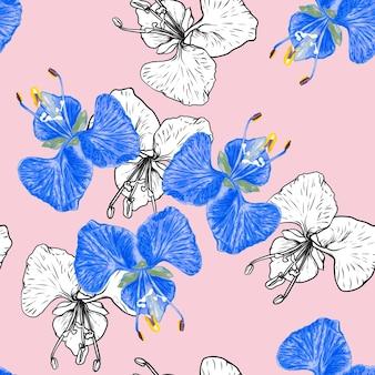 Fondo senza cuciture dei fiori dell'orchidea del modello floreale.