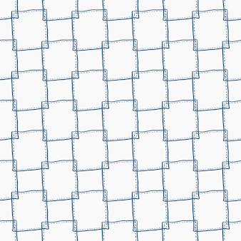 Sfondo con fantasia senza cuciture con semplice forma quadrata