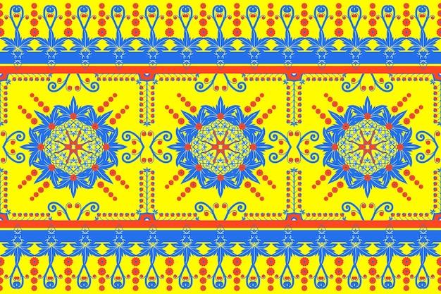 Seamless geometrico etnico asiatico orientale e tradizionale design pattern per texture e bachground. decorazione in seta e tessuto per tappeti, abbigliamento, confezioni e carta da parati