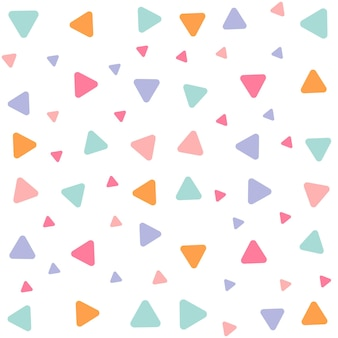 Motivo geometrico senza soluzione di continuità con triangoli, motivo senza cuciture con sfondo di triangoli colorati