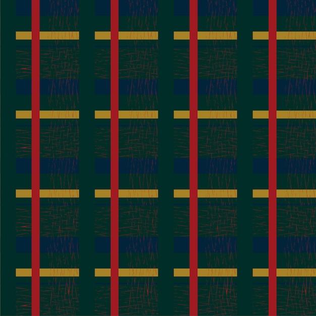 Percalle senza cuciture motivo a scacchi cottagecore disegno su sfondo blu scuro
