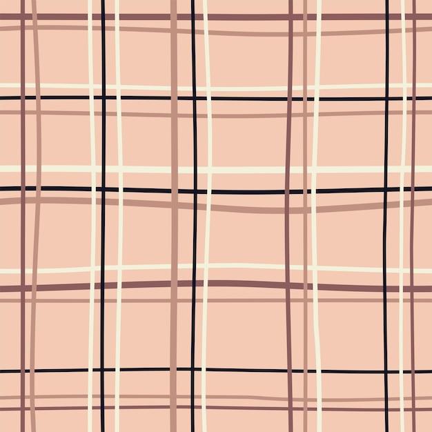 Percalle senza cuciture motivo a scacchi cottagecore colori pastello disegno su sfondo marrone