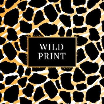 Modello dalmata giraffa senza soluzione di continuità, stampa animalier