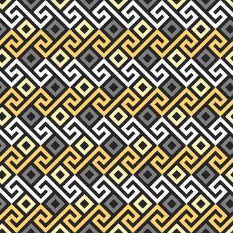 Ornamento d'oro greco senza cuciture, meandro