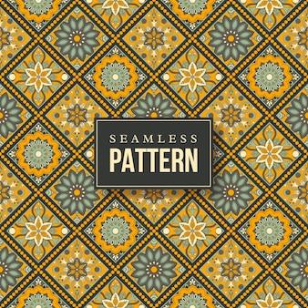 Reticolo della mandala disegnato a mano senza giunte. elementi vintage in stile orientale.
