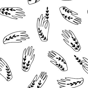 Seamless mani pattern.