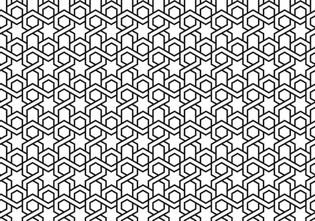 Motivo geometrico di piastrelle islamiche senza soluzione di continuità