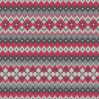 Motivo geometrico lavorato a maglia senza soluzione di continuità