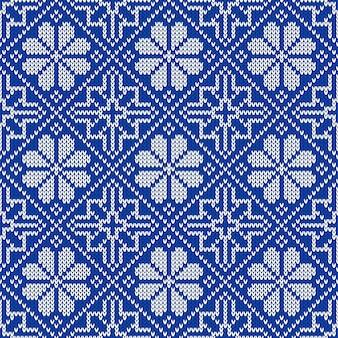 Reticolo lavorato a maglia senza giunte. ornamento etnico