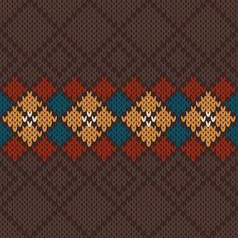 Modello a maglia senza cuciture sfondo vettoriale