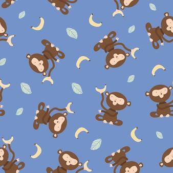 Modello di banana scimmia senza soluzione di continuità