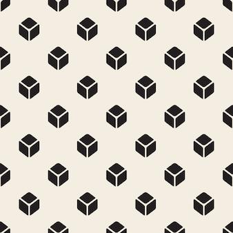 Modello di simmetria quadrata isometrica monocromatica senza soluzione di continuità