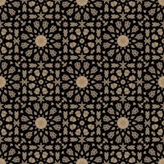 Ornamento modello marocchino senza soluzione di continuità sfondo arabo vintage