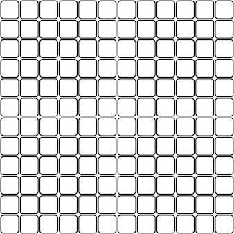 Quadrati di mosaico senza cuciture con motivo ad angoli arrotondati contorni di rombi sullo sfondo