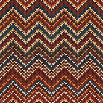 Reticolo lavorato a maglia multicolore senza giunte