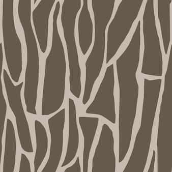 Modello naturale senza cuciture forme astratte sfondo marrone disegno a mano