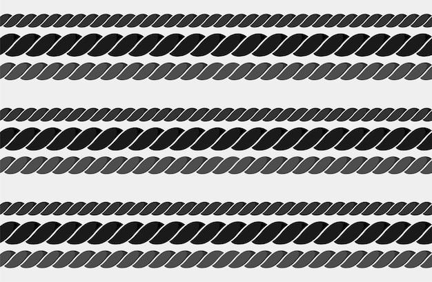 Modello di corda nautica senza cuciture